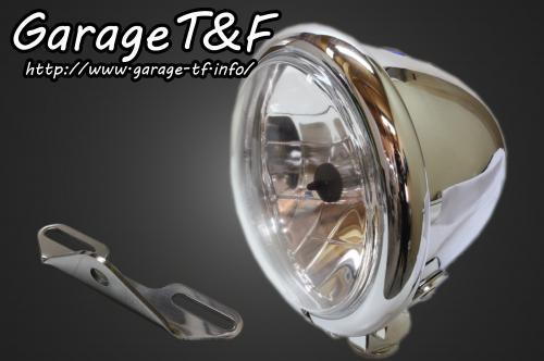 【Garage T&F】4.5吋 Bates 型頭燈&頭燈支架套件 (Type B) - 「Webike-摩托百貨」