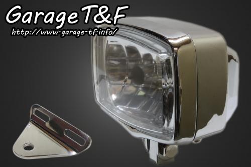【Garage T&F】4吋 Square 型頭燈&頭燈支架套件 (Type A) - 「Webike-摩托百貨」
