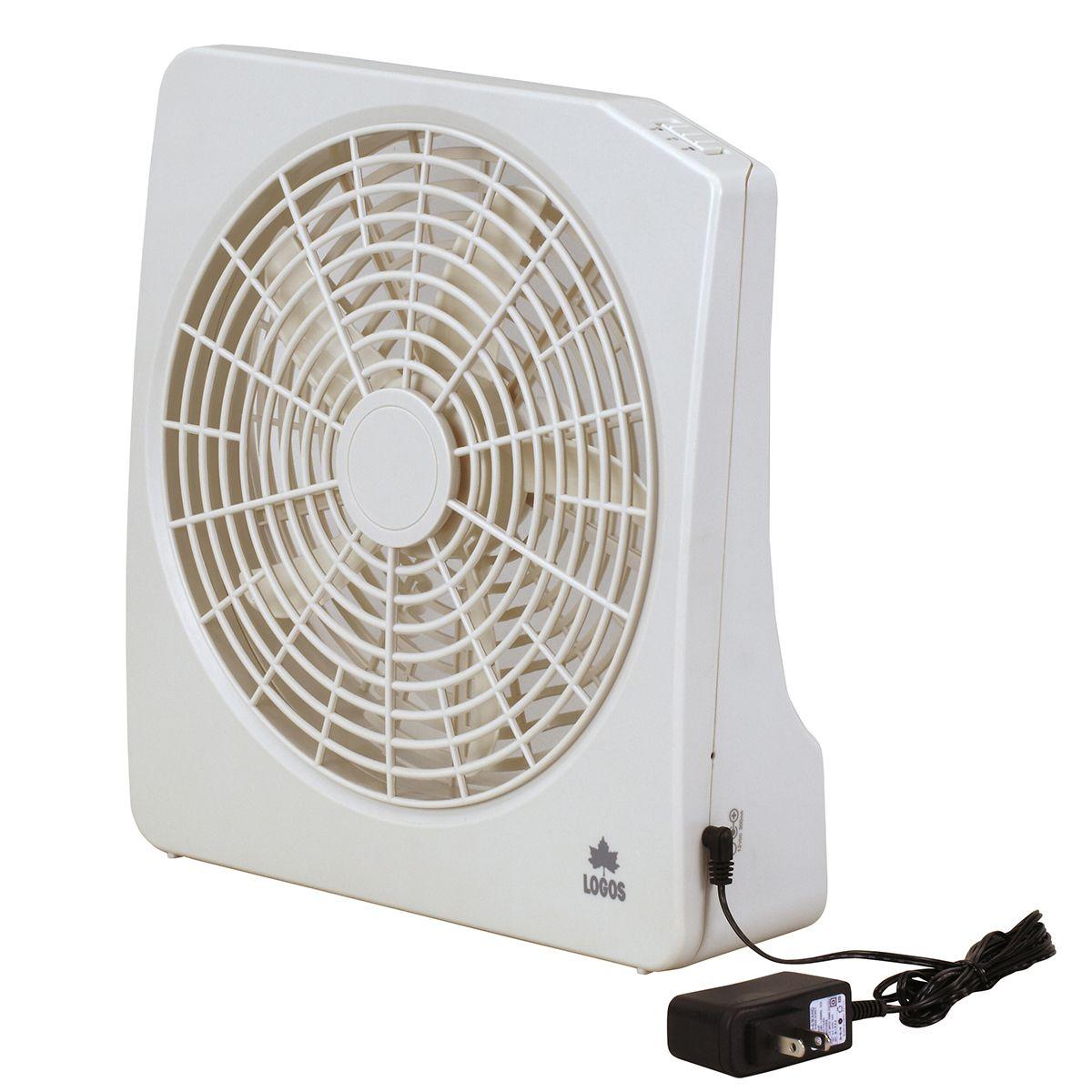 LOGOS ロゴス/2電源・どこでも扇風機(AC・電池)