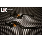 U-KANAYA Folding R-Type Aluminum Billet Lever Set [for ZRX1100/ZRX1200/ZRX1200DAEG]