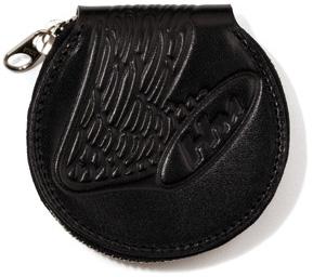 丸型皮革零錢包