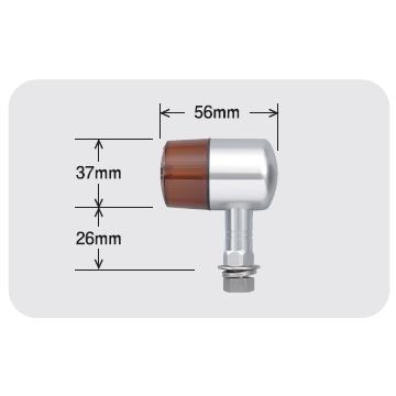 【POSH】鋁合金固定座71型式方向燈 短 支架型式 - 「Webike-摩托百貨」