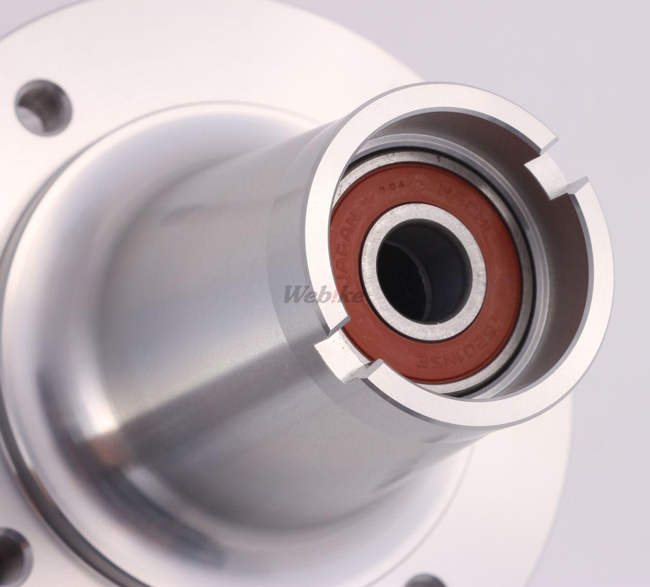 【G-Craft】加寬型碟煞前輪轂 (銀色) - 「Webike-摩托百貨」