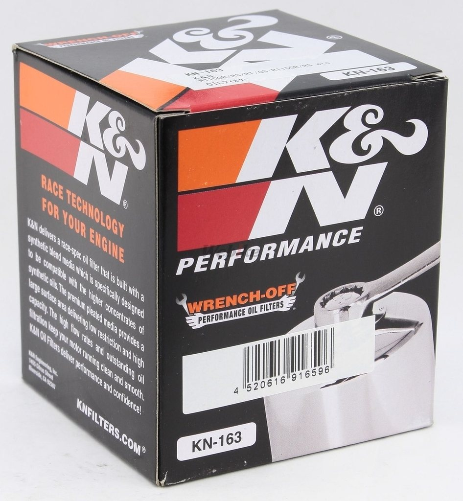 【K&N】KN-163 機油濾芯 - 「Webike-摩托百貨」