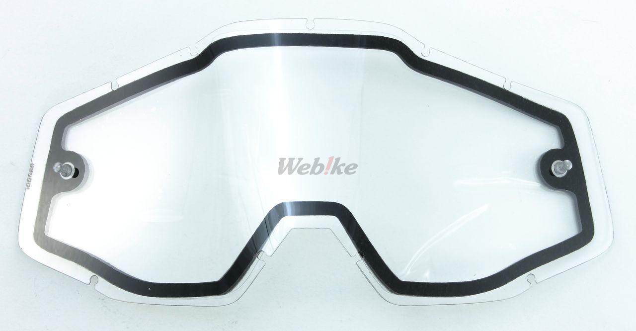 【100%】【部品】RACECRAFT・ACCURI 風鏡用雙層鏡片 - 「Webike-摩托百貨」