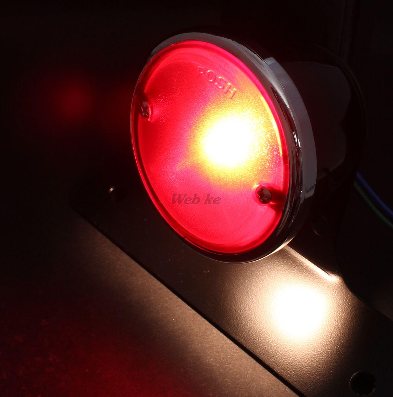 【POSH】復古圓形尾燈組 - 「Webike-摩托百貨」