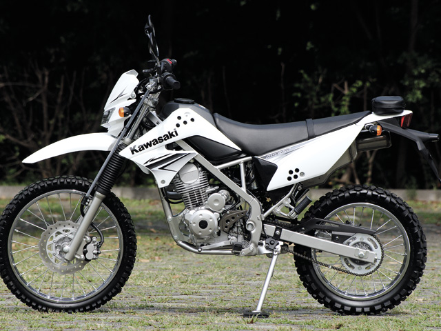 KLX125 Wears Designated 19 Inch Front Tire And 16 Rear To Be Balanced With The Chassis Is Loaded Telescopic Fork