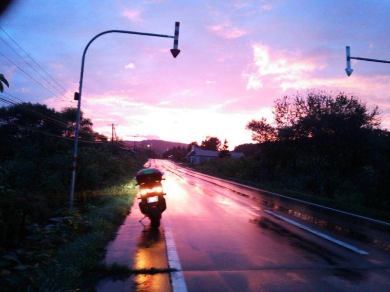 雨上がりの夕映え