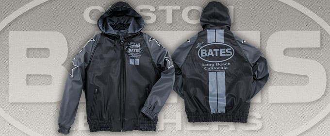 BATES:シンセティックレザーパーカー [BJ-F1518S]