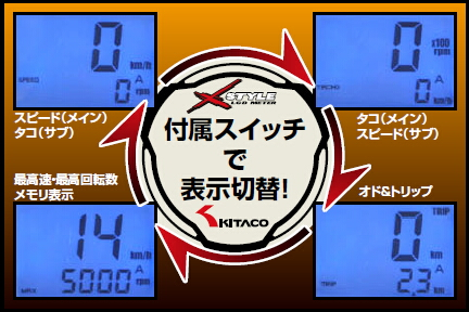 【KITACO】LCD數位速度&轉速錶 - 「Webike-摩托百貨」