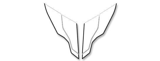 【MDF】貼紙組 單座座墊組 - 「Webike-摩托百貨」