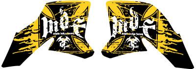 【MDF】貼紙組 Buratti 式樣 水箱罩貼紙組 - 「Webike-摩托百貨」