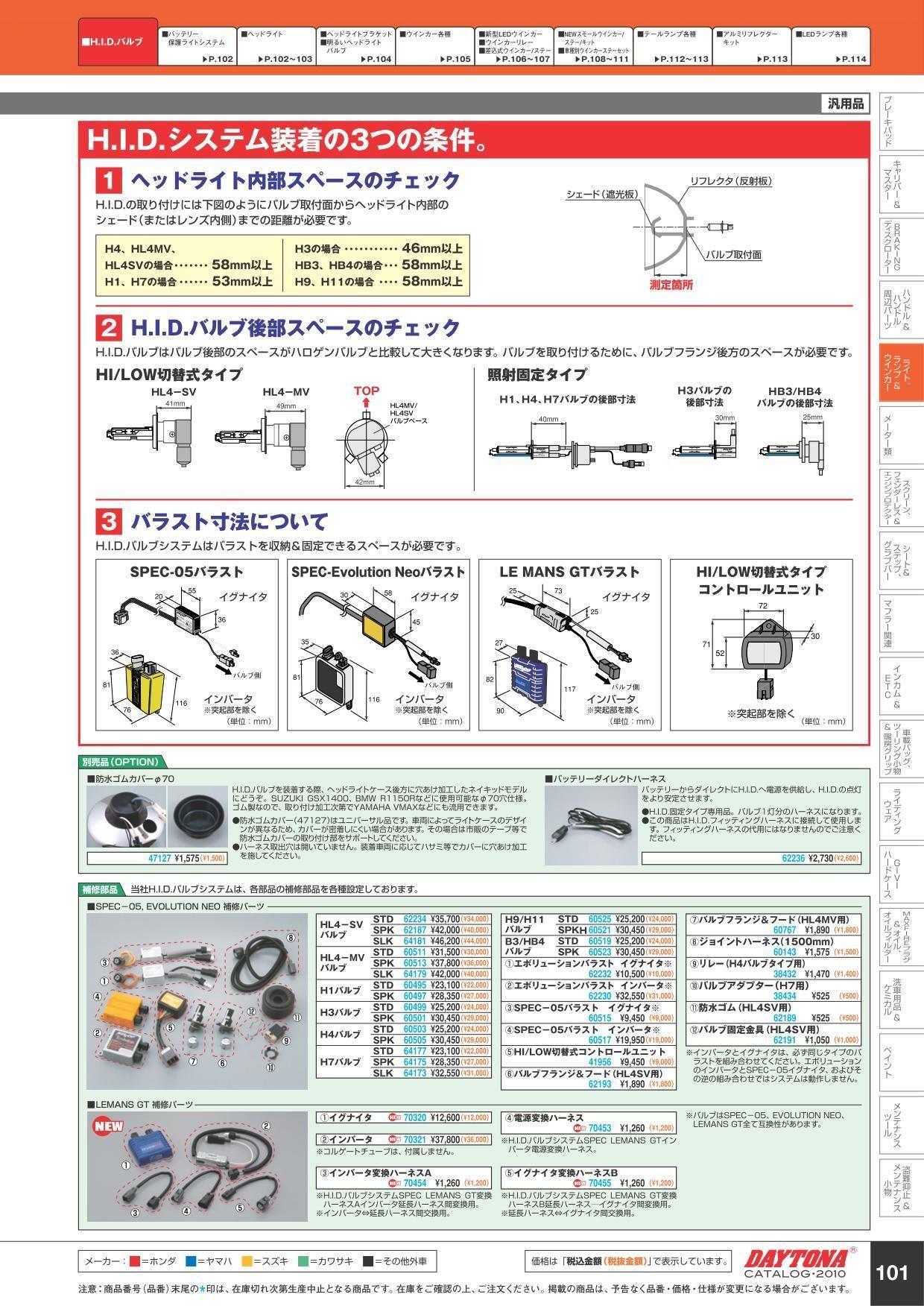 【DAYTONA】維修用 HID點火器轉換配線 (B Le Mans G) - 「Webike-摩托百貨」