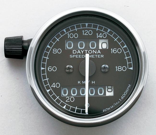 Mechanical Speedometer with White LED Lighting