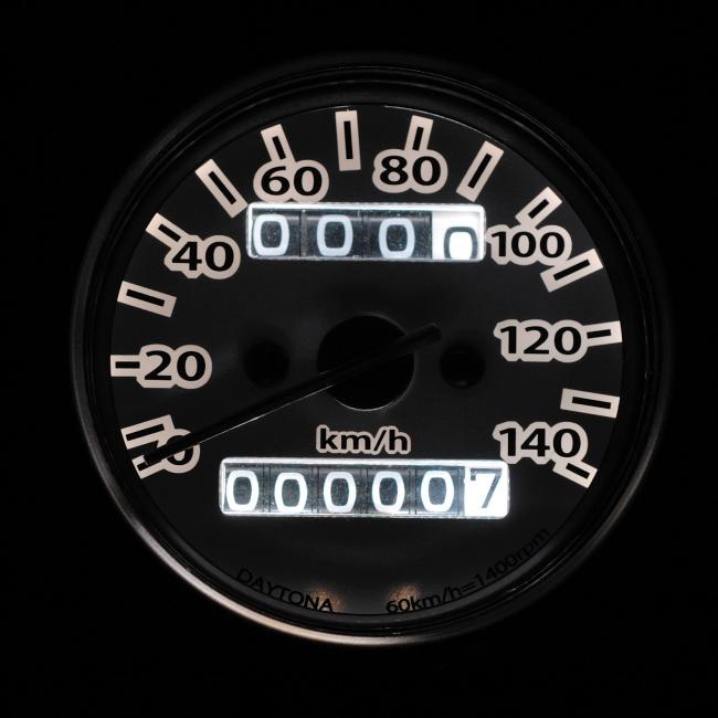【DAYTONA】機械式速度錶(LED照明) - 「Webike-摩托百貨」
