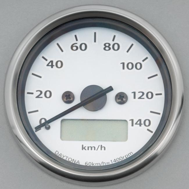 【DAYTONA】機械式LCD時速表 白色LED照明/液晶面板 - 「Webike-摩托百貨」