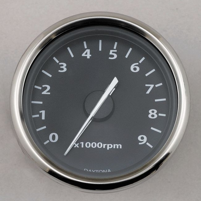 Universal Electric Tachometer with White LED Light