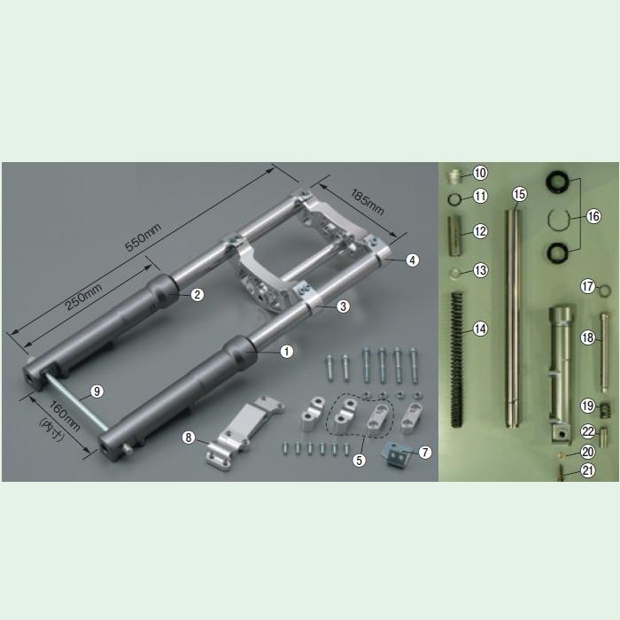 【DAYTONA】【維修部品】 31F/F用鋁合金三角台套件 - 「Webike-摩托百貨」