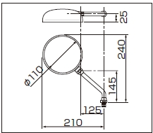 【DAYTONA】圓形大型型式後視鏡 - 「Webike-摩托百貨」