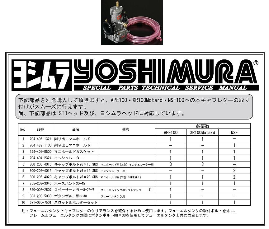 【YOSHIMURA】CR-mini MJN22化油器 - 「Webike-摩托百貨」