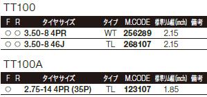 【DUNLOP】TT100 【3.50-8 46J TL】輪胎 - 「Webike-摩托百貨」