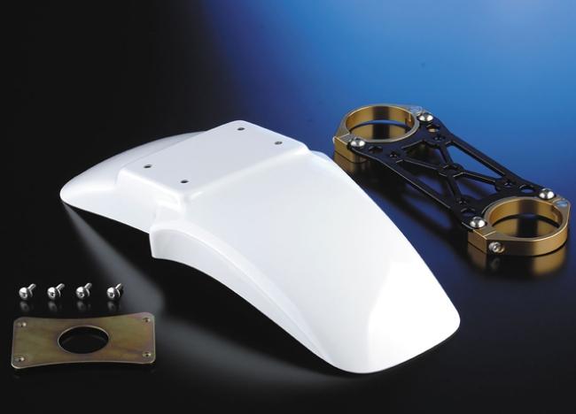 【NITRO RACING】OHLINSφ43正立式前叉専用 碳纖維前土除/前叉穩定器(手銬)套件 (Naked 17・18吋) - 「Webike-摩托百貨」