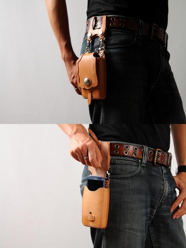 【DEGNER】皮革手機套 - 「Webike-摩托百貨」