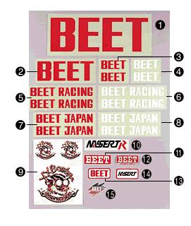【BEET】BEET 貼紙 MIDIUM - 「Webike-摩托百貨」