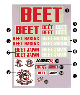 【BEET】BEET JAPAN 貼紙 - 「Webike-摩托百貨」