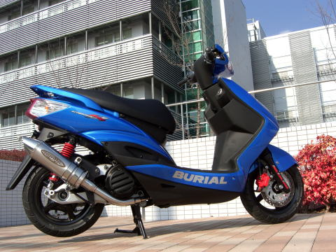 【BURIAL】Metal Hybrid Stinger 全段排氣管 黑 - 「Webike-摩托百貨」