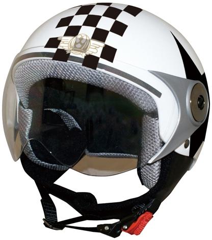【DAMMTRAX】POPO GT 兒童安全帽(Check&Star) - 「Webike-摩托百貨」