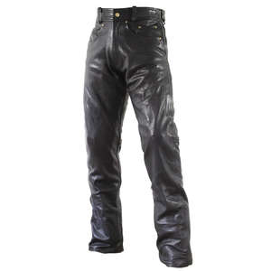 Straight Leather Pants Loose Fit ROUGH&ROAD