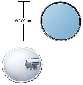 【YAMAHA】藍色鏡面後視鏡(圓形) - 「Webike-摩托百貨」