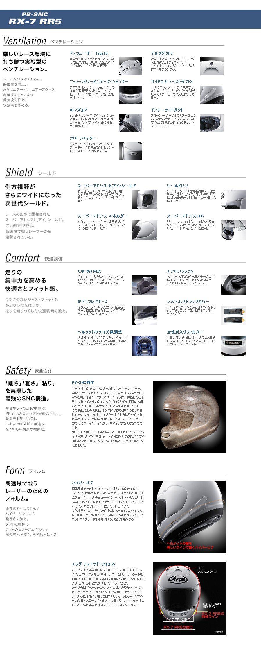 【Arai】RX-7 RR5 安全帽 - 「Webike-摩托百貨」