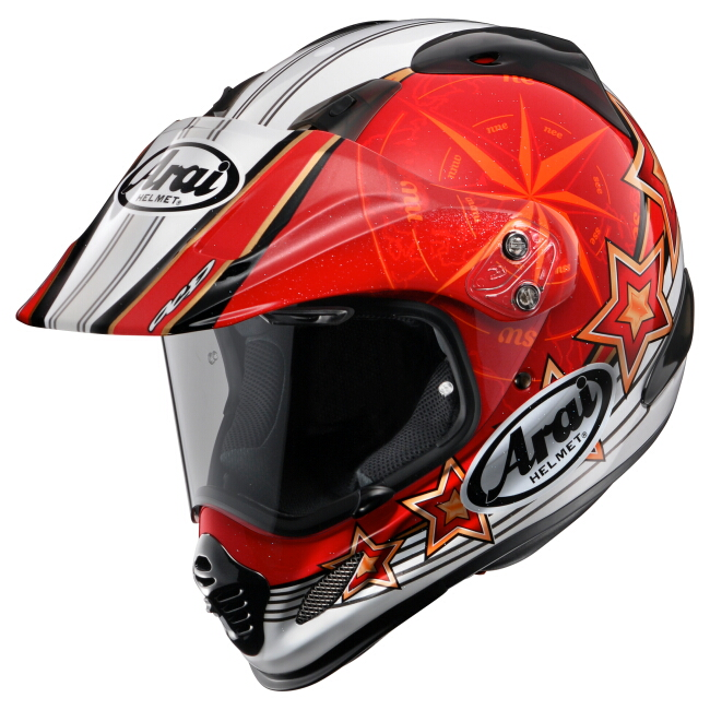 【Arai】TOUR CROSS3 AURORA 紅色 越野安全帽 - 「Webike-摩托百貨」