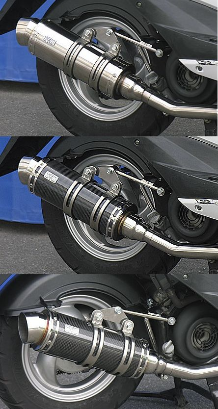 【WirusWin】Royal全段排氣管 Spotrs型 黑色碳纖維款式+加高套件 - 「Webike-摩托百貨」