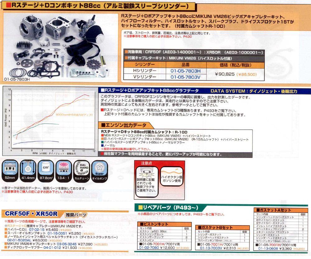 【SP武川】R Stage+D全組套件 88cc(鋁合金製鐵缸套) - 「Webike-摩托百貨」