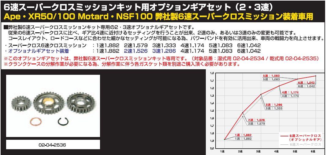 【SP武川】Super cross6速傳動套件用齒輪改裝套件(2・3速) - 「Webike-摩托百貨」