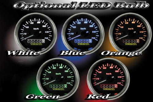 【SP武川】D型式 黑色與白色速度錶 - 「Webike-摩托百貨」