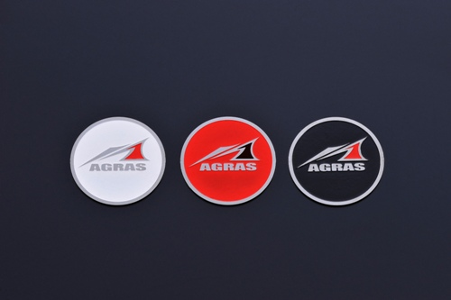 【AGRAS】圓蓋貼紙(小) - 「Webike-摩托百貨」