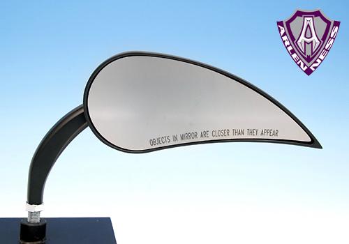 【EASYRIDERS】【Allen Ness製】Ness RAD-3 Teardrop 後視鏡 - 「Webike-摩托百貨」