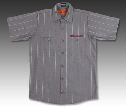 【BREDGE】【BREDGE×RED KAP】 短袖條紋工作襯衫 - 「Webike-摩托百貨」