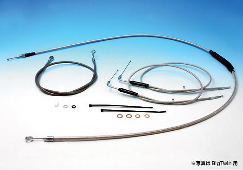 【EASYRIDERS】9吋 1.3m 不鏽鋼金屬長拉索&金屬煞車油管套件  - 「Webike-摩托百貨」