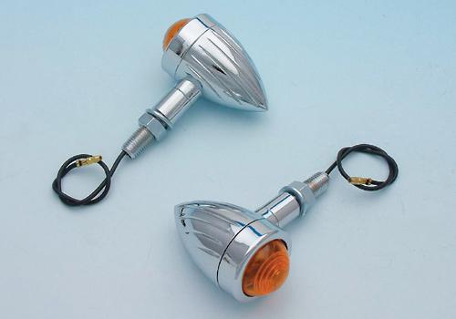 【EASYRIDERS】細長型 Brett 方向燈 (電鍍・橘色燈殼) - 「Webike-摩托百貨」