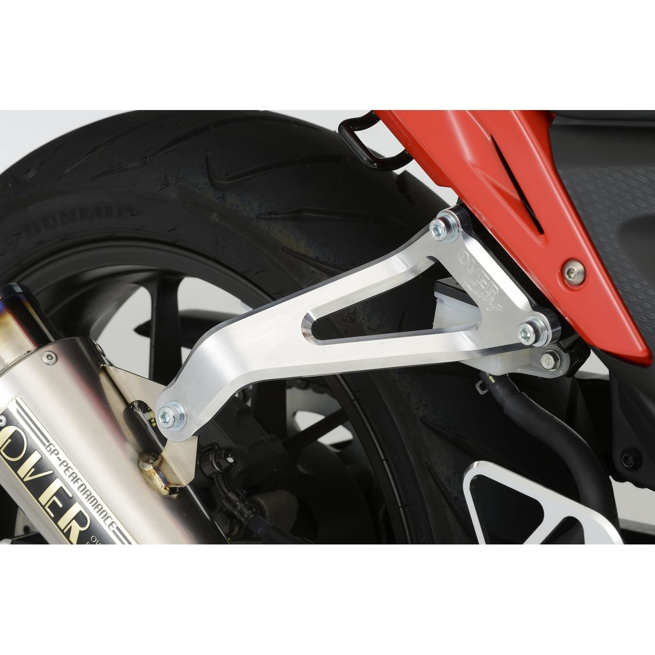 【OVER】鋁合金 Billet 排氣管固定架 - 「Webike-摩托百貨」