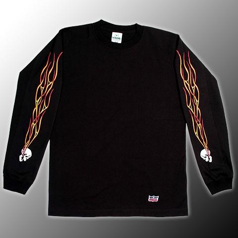 【KADOYA】FLAME HEAD 長T恤 - 「Webike-摩托百貨」