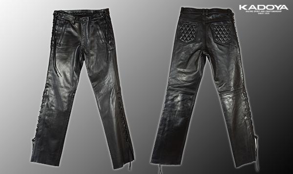 【KADOYA】KS LEATHER Sidewinder3 皮革褲 - 「Webike-摩托百貨」