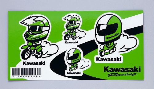 【KAWASAKI】kawasaki 賽車安全帽貼紙 - 「Webike-摩托百貨」