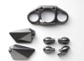 【KAWASAKI】類碳纖維外蓋3個一組 - 「Webike-摩托百貨」