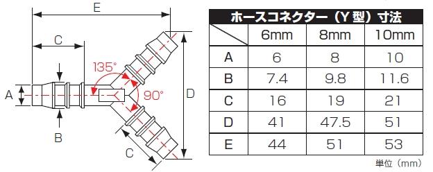【K-CON】軟管接頭Y型 (三通) 10mm - 「Webike-摩托百貨」